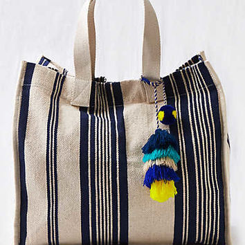 Aerie Square Tote Bag , Navy
