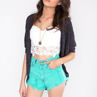 Finders Keepers Cardigan - Charcoal