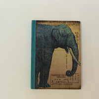 Elephant Print Handmade Paper Notebook Journal Travel Notebook Vintage Diary Cotton Paper Sketchbook Small Notebook Hard Bound