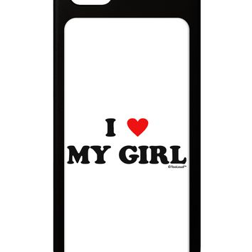 I Heart My Girl - Matching Couples Design iPhone 5 / 5S Grip Case  by TooLoud