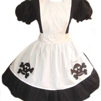 Cute Gothic Skulls Alice in Wonderland Costume by MGDclothing