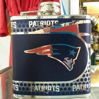 NFL New England Patriots 6oz Stainless Steel Flask with 360 Wrap