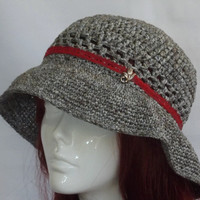 Womans Summer Hat  Hand Crochet Sun Hat  Hand Made by SophiesHats