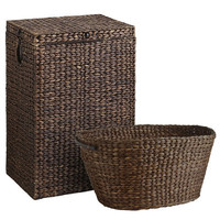 Carson Espresso Wicker Hamper & Laundry Basket