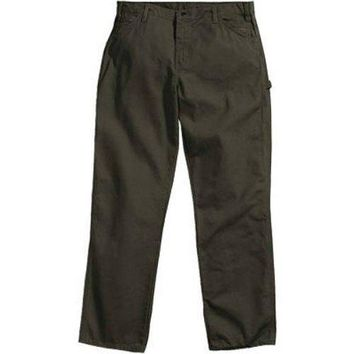 "Dickies 1939RMS4034 Men's Relaxed Fit Duck Carpenter Jeans, 40""x34"", Moss Green"