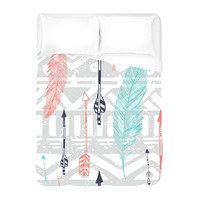 Feathers and Arrows Print Duvet Cover