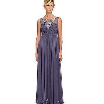 Decode 1.8 Beaded Chiffon Illusion Gown