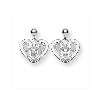 Disney's Minnie Mouse Heart Post Earrings in Sterling Silver