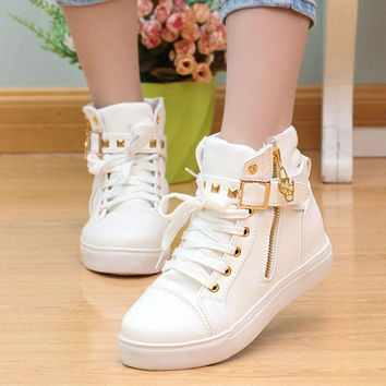 woman Casual shoes 2016 floral high top women shoes