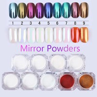 Chrome Mirror Nail Glitter Pigment Powder