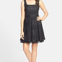 Junior Women's Soprano Sequin Lace Skater Dress,