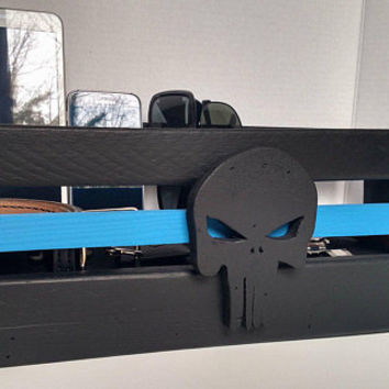 Thin Blue Line Punisher Officer's Box - TBL Officer's Nightstand Organizer
