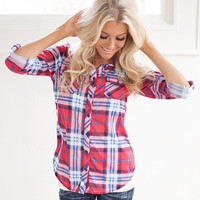 Beauty in the Mountains Plaid Top CLEARANCE - Modern Vintage Boutique