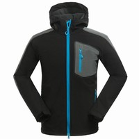 Quality Fleece soft shell jacket men's sports coat Winter outdoor Ski jacket waterproof waterproof climbing wear