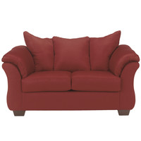 Flash Furniture Signature Design by Ashley Darcy Loveseat in Salsa Fabric [FSD-1109LS-RED-GG]