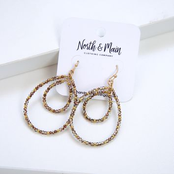 Lindsey Drop Earrings, Gold