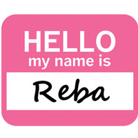 Reba Hello My Name Is Mouse Pad