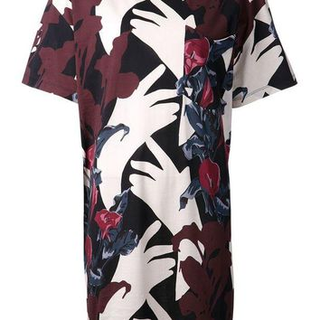 ONETOW Carven floral print T-dress