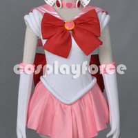 Sailor Moon Sailor Chibi Chibi Moon Cosplay Costume With Two Headwears