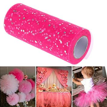 Glitter  Sequin  Tulle  Wedding  Decoration  yards