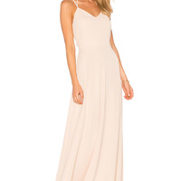 Amanda Uprichard Mallorie Maxi Dress in Bisque | REVOLVE