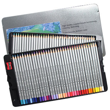 Colored Pencils 72 Count Set of Colors Drawing Pencils Metal Box for Secret Garden Enchanted Forest Adult Coloring Books 72 colors