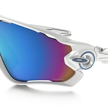 Oakley Jawbreaker PRIZM Snow in POLISHED WHITE / Prizm Snow Sapphire Iridium