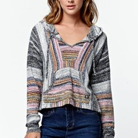 Billabong Cropped Baja Poncho Sweater - Womens Sweater
