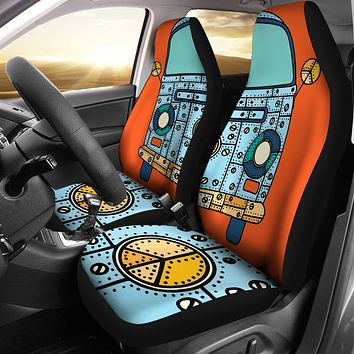 Robot Hippie Car Seat Covers