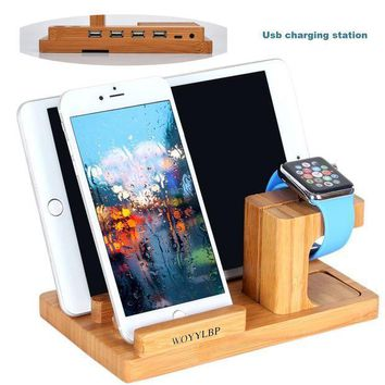 Iphone Charger Dockwoyylbp Iphone Charger Station And Apple Watch Standbamboo Wood 3 Port Cradle Iphone Usb Charging Station. (bamboo Wood2)