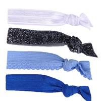 Glam Bands Blues Combo Hair Ties
