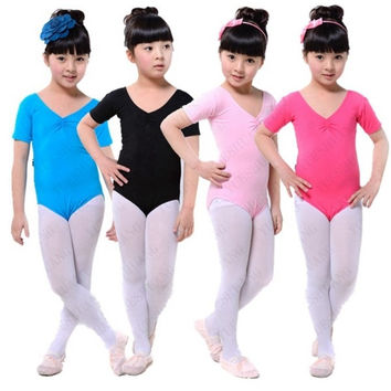 Girl Kids Ballet Dance Costumes Cotton Lycra Gymnastics Skating Clothes Leotards