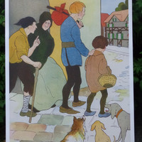 The Beggars are Coming to Town Poster-18x24 inches-Vintage Image