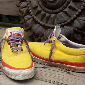 vintage 80s sneakers original JAMS converse surf skate tennis shoes mens 7 womens 9 ye