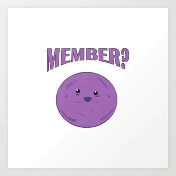 Member Berries Art Print by Neon Monsters