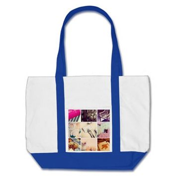 Custom Instagram Photo Collage Impulse Tote Bag