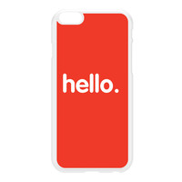 Hello White Hard Plastic Case for iPhone 6 Plus by textGuy