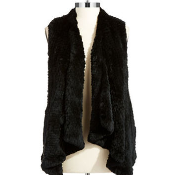 Linda Richards Rabbit Fur Vest