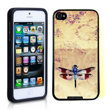 Vintage Dragonfly Retro iPhone 5 Case - For iPhone 5/5G Designer TPU Case Verizon AT&T Sprint