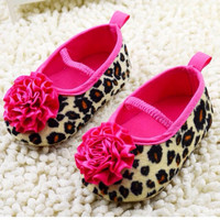 Red Flower Princess soft baby shoes for girl baby shoe 3 sizes