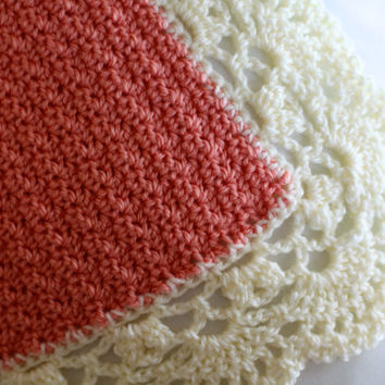 Lace-Edged Crochet Baby Blanket
