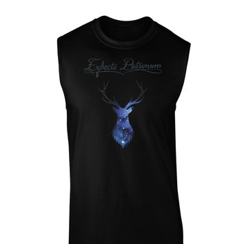 Expecto Patronum Space Stag Dark Muscle Shirt
