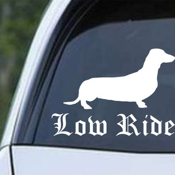 Dachshund Low Rider Weiner Dog Die Cut Vinyl Decal Sticker