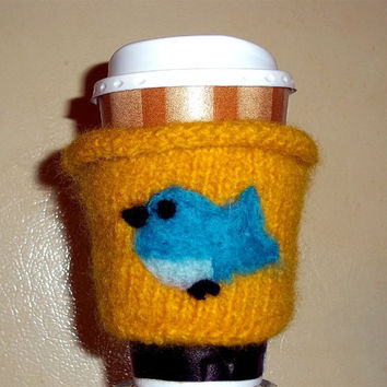Coffee Cozy Yellow Bird
