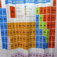 ONETOW Day-First? Periodic Table Shower Curtain
