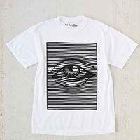 Eye Illusion Burnout Tee - White