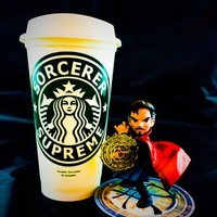"Marvel's Doctor Strange inspired ""Sorcerer Supreme"" Starbucks Travel Cup"