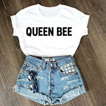 2015 new fashion letter print shirts funning couple tops women casual t shirt = 1956839620