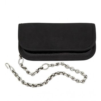 HOORSENBUHS - Leather Wallet With Silver and Diamond 10mm Wallet Chain | Just One Eye