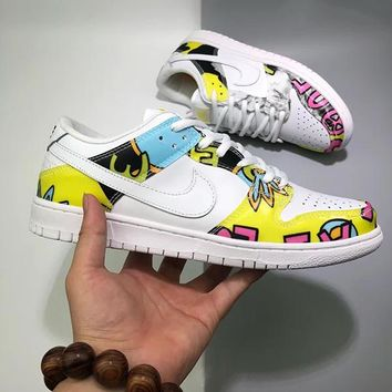 Nike SB Dunk Hi PRE QS Women Fashion Sunflower Sneakers Sport Shoes